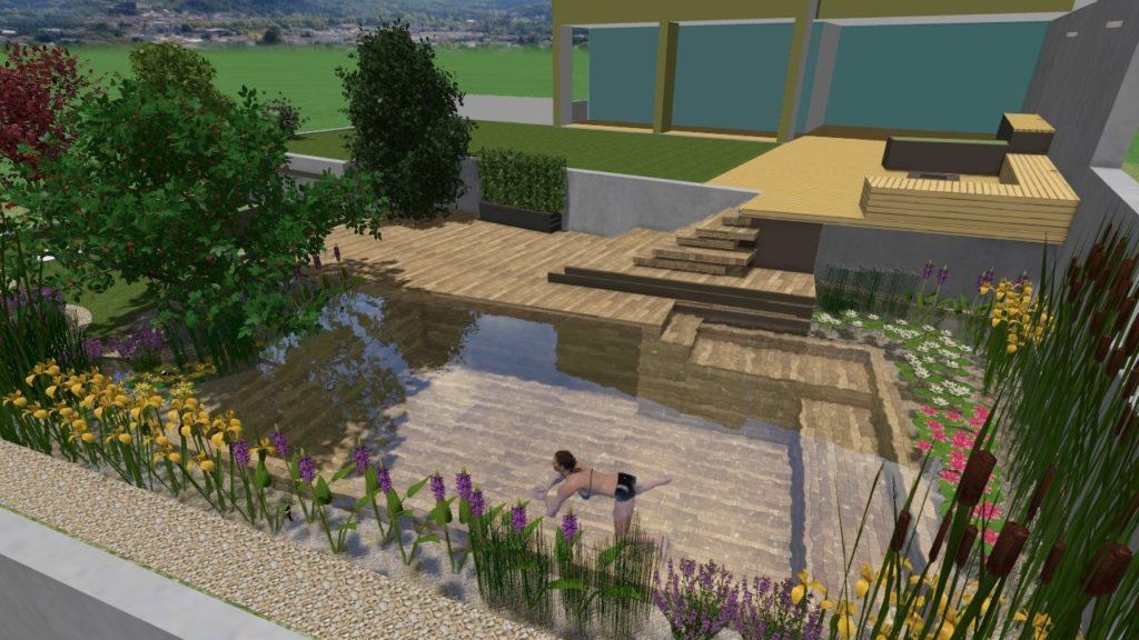 Progettazione 3d e rendering grafici giardini for Arredo giardino brescia