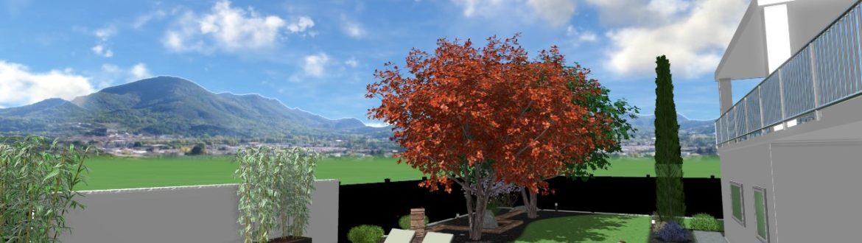 Progetto Giardino Casa Privata Con Piscina5